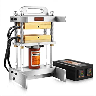 12 Ton Hydraulic Cylinder Heat Press Machine (Latest Version) - Dual 4x7 Inch Heated Platens (No Pump Included)