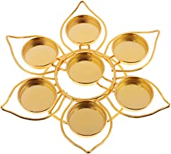 Fenteer Classic Gold Alloy Lotus Flower Buddha Lamp Holder Candle Decor Gift