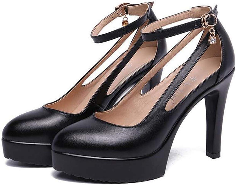 CHENSF Women's Ladies Fashion Summer Fashion Pointed High Heel shoes