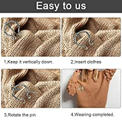 DURANTEY 6 PCS Vintage Viking Brooch Medieval Cloak Pin Antique Sliver & Rose Gold Scarf Shawl Buckle Clasp Pin Zinc Alloy Penannular Brooch for Clothing Jewelry Costume Accessory(5~6cm*4~7cm) #3