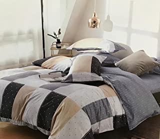 Starstorm_SB_4 Pieces Fitted Single Size Bed Sheet Set of 1 Fitted Bed Sheet, 1 Bed Cover and 2 Pillow Cases (Click above ...
