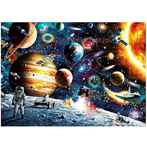 DSACXZ Jigsaw Puzzles 1000 Pezzo for Gli Adulti, Spazio Viaggi Decorazioni Jigsaw Puzzle di Legno Regali Difficili Puzzles Famiglia for Adulti, Bambini, Adolescenti