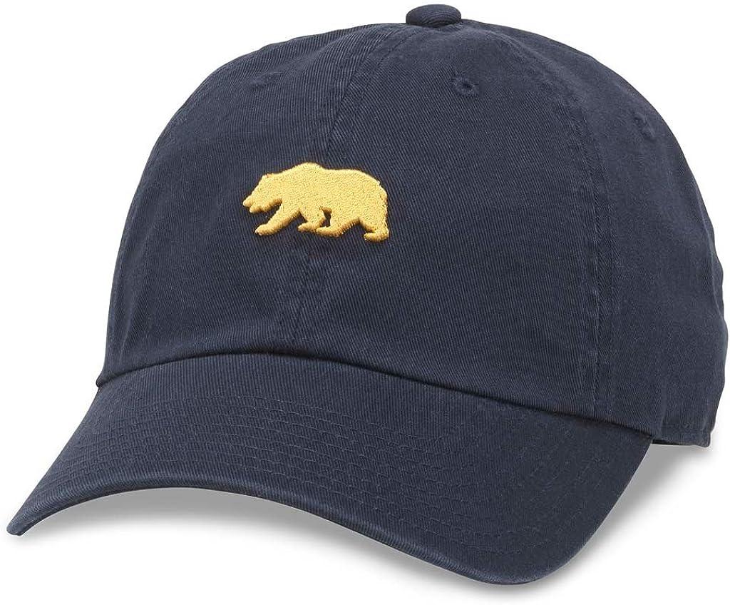 AMERICAN NEEDLE California Cali Bear Casual Baseball Cap Dad Buckle Strap Hat 44480B-CALI Navy