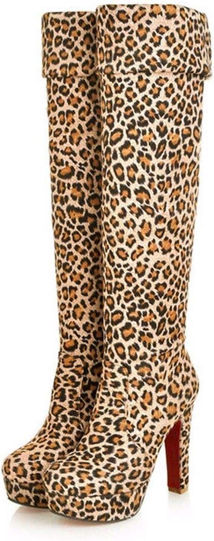 AIKAKA Frauen Herbst und Winter Europa und Amerika Sexy warme High Heel Schuhe Overknee Stiefel  | Starke Hitze- und Abnutzungsbeständigkeit  | Sale Deutschland  | Hohe Sicherheit