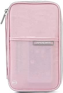 TRIWONDER Family Passport Holder RFID-Blocking Travel Wallet Ticket Holder Document Organizer with Zipper for Women & Men
