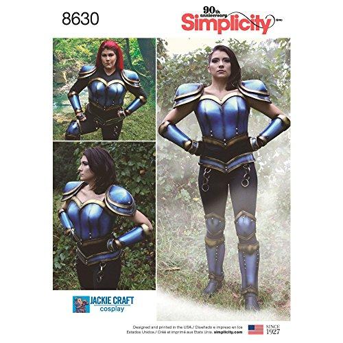 Simplicity 8630Pattern 8630 Armor, Papier Blanc, U5 (44-48-50-52-54)