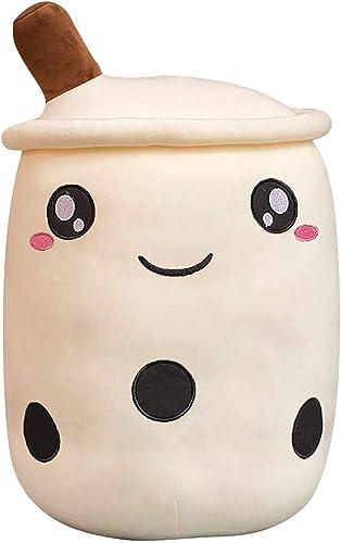 Plush Boba Stuffed Tea Milk Toy Soft Hugging Pillow Plush Toy Bubble Milk Tea Stuffed Toy Bubble Tea Plush Pillow Gift for Kids and Women, 24/35cm