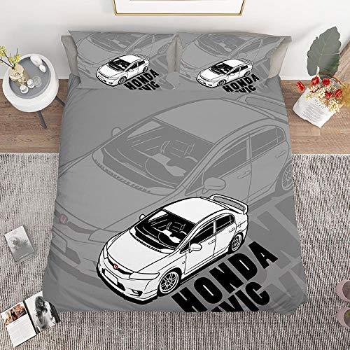 Bedclothes-Blanket Juego de Cama 150,Cama de Cama de impresión Digital de Tres Piezas 3D Motocicleta de una Sola Motocicleta-2_180 * 210cm
