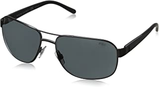Polo Ralph Lauren Men's PH3093 Square Metal Sunglasses
