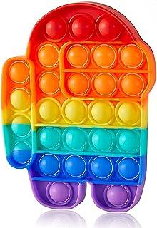 sb components Push Pop Fidget sensorisk Among Us stil leksak, fidgetleksaker set för barn och vuxna, bubbelpopper fidgetle...
