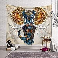 タペストリーの家の装飾新しいインドの曼荼羅スタイルの象のタペストリーウォールマウント寮60x40インチ(152x102cm)
