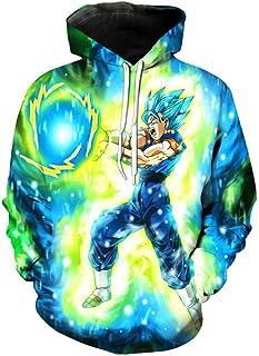 Yangxinyuan Unisex Hoodies Dragon Ball Z Goku 3D Print Pullover Sportswear Sweatshirt Tops (0751, XL)