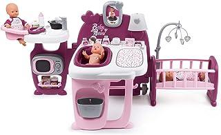 Smoby - Baby Nurse - Grande Maison des Bébés - Pour Poupons et Poupées - 3 espaces de Jeux - Cuisine + Salle de Bain + Cha...