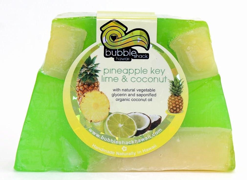 ホイール我慢するくるくるハワイ お土産 ハワイアン雑貨 バブルシャック パイナップル チャンクソープ 石鹸 (ライムココナッツ) ハワイ雑貨