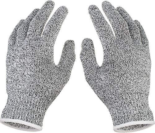 Schnittsichere Handschuhe,COTEY 2 Paar Küche Arbeitshandschuhe Schnittfest,Hochwertiges HPPE-Material, Schutzstufe 5, Aktualisierte Version,Schnittsichere Handschuhe für Kinder,22CM