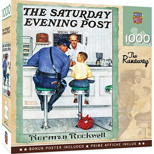 MasterPieces Norman Rockwell 1000 Puzzles Collection - The Runaway 1000 Piece Jigsaw Puzzle