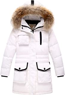 891e132f6 Russian Winter Girls Duck Down Jackets Children Warm Long Hooded Big Fur  Collar Coat Kids Thickening
