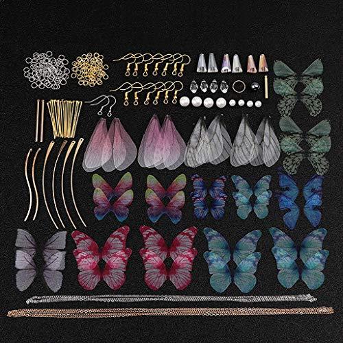 Yushu Colgante de alas de libélula, mariposas, pendientes de ala de Cicada, para hacer joyas,...