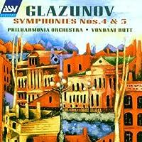 Symphonies 4 & 5 by Glazunov