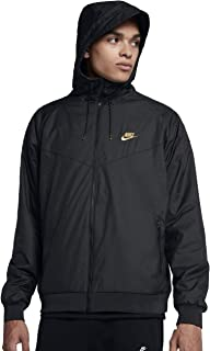 nike black polyester terry jacket