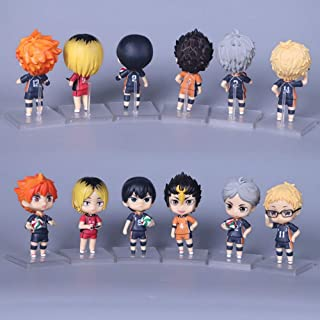 QTRT 6pcs Haikyuu Hinata Shoyo/Oikawa Tooru/Kageyama Tobio Q Versione PVC Anime Gioco del Personaggio dei Cartoni Modello ...