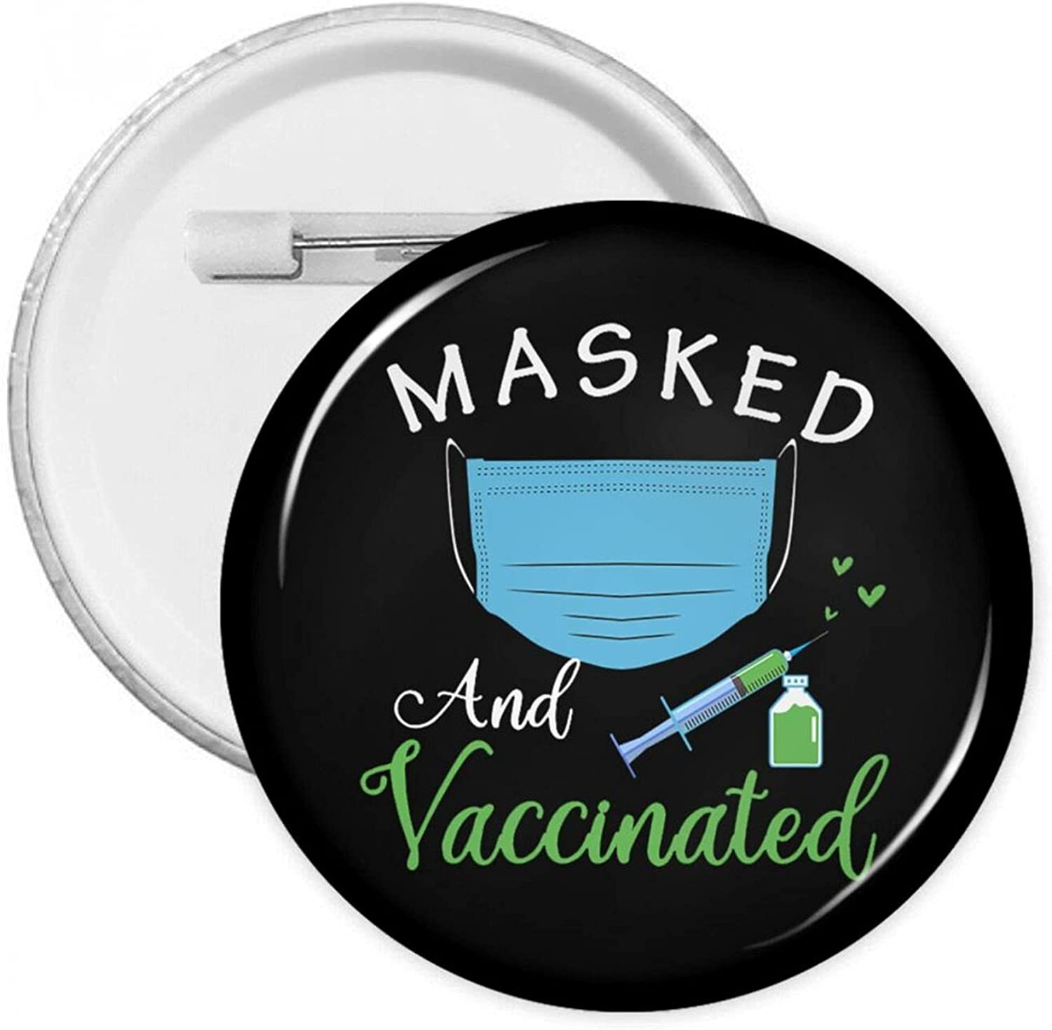 Masked Purchase And Vaccinated 1 Pin Party New Free Shipping Decor Recognition Button Badge
