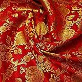 Textile Station AM-01 Dekorativer Weihnachtsstoff, rot,