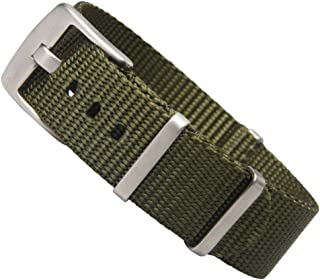 ZOVNE-NATO Style Nylon Watch Band in 20mm 22mm with Brushed Square Keeper and Buckle for Men Women