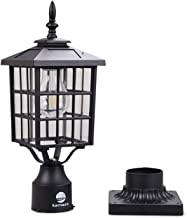 Kemeco ST4224Q-A LED Cast Aluminum Solar Post Light Fixture with 3-Inch Fitter Base for Outdoor Garden Post Pole Mount
