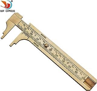 QST Measure Measurement Tool Pocket 0-100mm Mini Brass Sliding Gauge Vernier Caliper