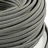 Cable eléctrico en farbigem revestimiento plástico. Made in Italy. 2x 0, 75Color: gris oscuro