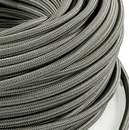 section 2x0,75,/pour lustres abat-jours Blanc Produit fabriqu/é en Italie. design avec rev/êtement en tissu color/é lampes Fil /électrique tress/é style vintage