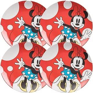 Vandor 89436 Disney Minnie Mouse 4 Pc. 10 in. Ceramic Plate Set