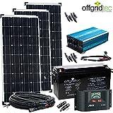 OFFGRIDTEC 12V Solaranlage Autark XL-Master 300W Solar