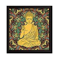 ポスター 宗教壁画タンカポスタープリントのためのリビングルームキャンバス絵画インド曼荼羅未辞書の壁画 SGSJP (Color : 13, Size (Inch) : 20X20inch 50X50cm)