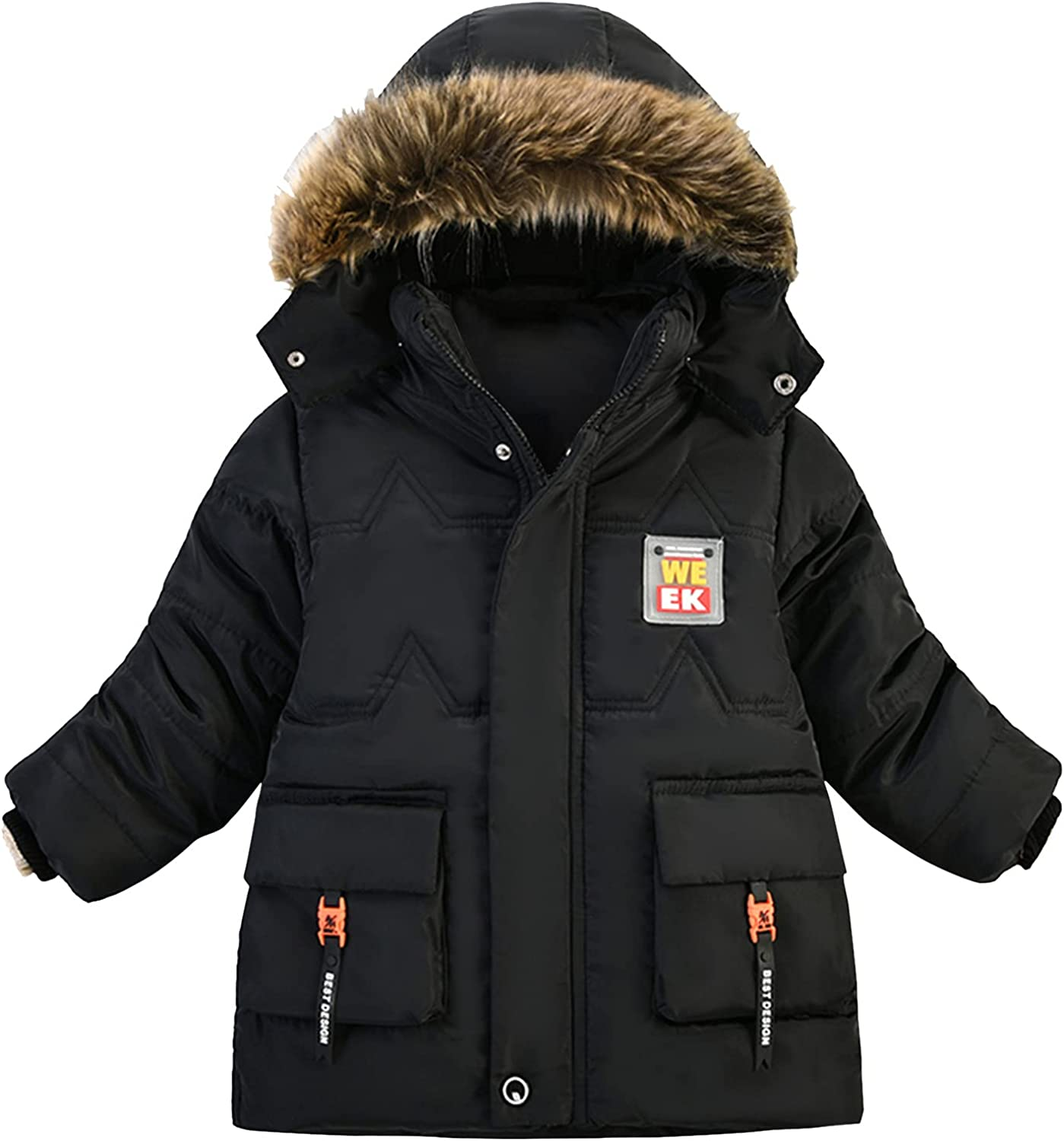 Kids Jacket Autumn And Winter Keep Warm Boys Jacket Hooded Leisure Thicken Cotton Boys Coat Plus Size Kids Clothes