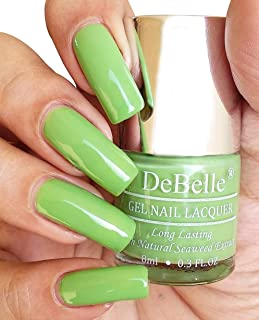 DeBelle Gel Nail Lacquer Mystique Green - 8 ml (Green Nail Polish)