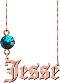 HUAN XUN Custom Pendant Old English Name Necklace Best Gifts for Mother Grandma