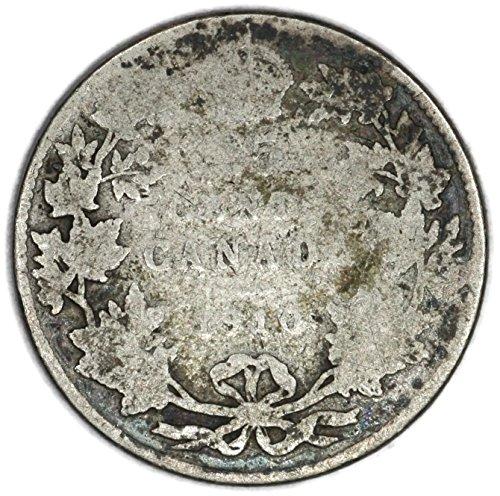 1910 CA Edward VII Canadian KM# 11a Silver 25 Cent FAIR