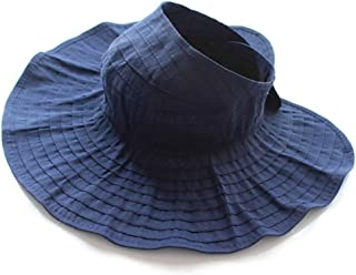 COOLSUMMER Women Wide Brim Visor Straw Hats Foldable Floppy Beach Sun UV Protection Caps