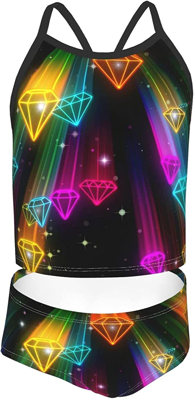 Girls' Tankini Now free shipping Swimsuit Sets Dreamy Dedication 2-Piece Colorful Bikin Stars