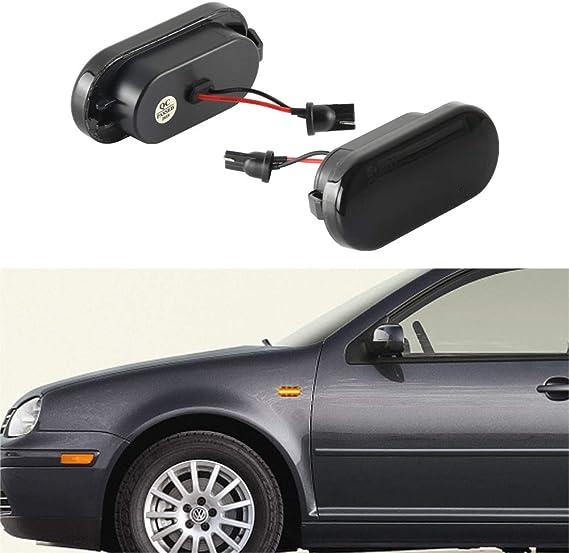 1 Paar Oz Lampe Led Seitenblinker Blinker Laufeffekt Smoke Dunkel Für C Max Fiesta Focus Fusion Galaxy Bora Golf3 Golf4 Lupo Passat Polo Sharan Vento T5 Auto