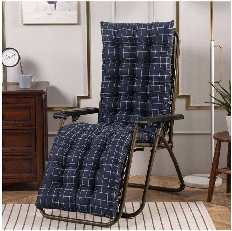 dick gepolstert Ersatzkissen tragbare Liegestuhl f/ür Liegestuhl Sitzbezug Yzzlh Lounge-Stuhl-Kissen A,40 x 110 cm Relaxsessel