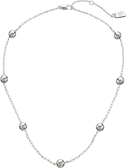 "Metal Bead 16"" Station Necklace"