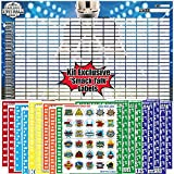 """Fantasy Football Draft Board 2021   14 Teams Fantasy Football Draft Kit   Jumbo Draft Board with 4"""" inch Player Sticker Labels   2021 Player Roster, Rookies & Free Agents   Includes Smack Talk Labels"""