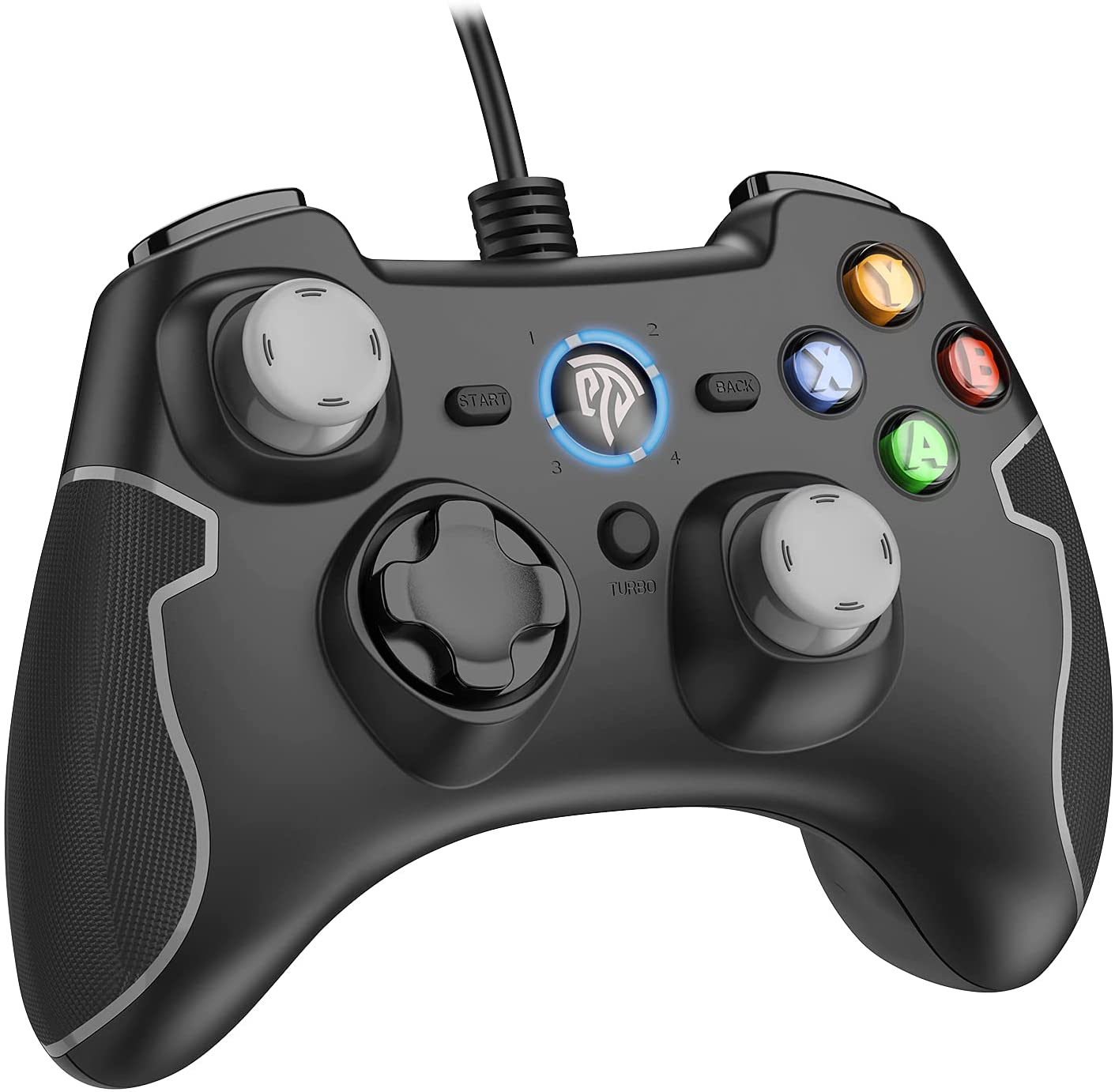 EasySMX Wired Gaming Controller, PC Game Controller Joystick with Dual-Vibration Turbo and Trigger Buttons for Windows/Android/ PS3/ TV Box