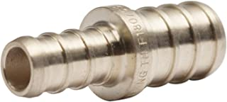 LTWFITTING Lead Free Brass PEX Crimp Fitting 3/8-Inch x 1/2-Inch PEX Reducing Coupling (Pack of 30)
