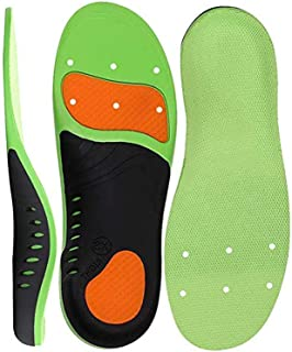 Santo Shoe Insole, Scientifically High Arch Support Orthotic Shoe Inserts Plantar Fasciitis Feet Insoles Super Support Shoe Inserts Best Absorbing Relieve Heel Spurs & Foot Pain for Man Women