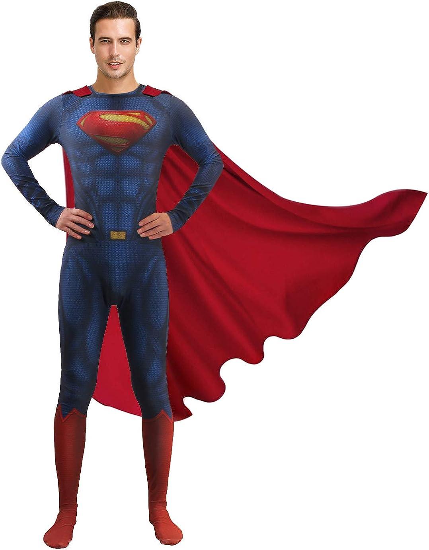 Halloween Men's Deluxe Dedication Superhero Cosplay Costume Raleigh Mall Bodysuit Jumpsu