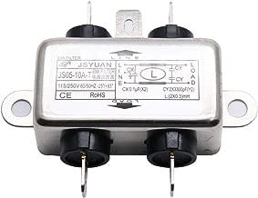 Aodesy Single Phase Noise Suppressor Power EMI Filter JS05-10A-T 115/250V 60/50Hz